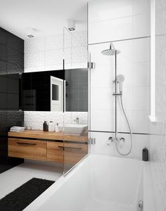 Jaskier rain-shower head with bath mixer, Deante