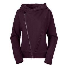The North Face Women's Shirts & Sweaters WOMEN'S BON BONNIE FULL ZIP HOODIE  Love the A-symmetrical zip