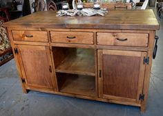 Looking for a real solid wood kitchen island? Are you tired of cheap everyday furniture? Fed up with pressed board and ugly veneer? Well if so, we have the solution. We hand build real solid wood furniture pieces for every room in the home. This 66x 24 x 36 tall island which was built