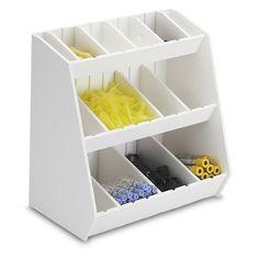 Found it at Wayfair - Storageg Bin With 16 Adjustable Bins And No Adjustable Shelf