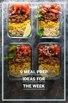 Whether you need breakfast, snack, lunch, or dinner ideas, this list provides tasty inspiration that's a cinch to make and store until mealtime. #mealideas #mealprep #healthyeating