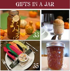 Here are 48 homemade gifts in a jar complete with recipes and lots of pictures so you can make them at home for your friends and family.