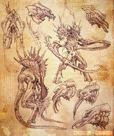 ArtStation - Kraken Concept Sketches, Stephen Oakley