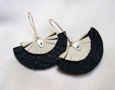 Alejandra Giannoni » Aros con Piedra y con Cuero (Stone and Leather Earrings)
