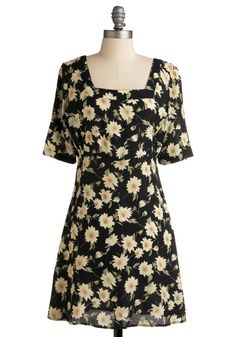 I had a dress very similar to this in the 90s! It was my favorite, and I either wore it with work boots, or little ballet slipper shoes and a pair of tights. After one incident of flashing a bunch of strangers in this too short little dress, I added a pair of black leggings to the ensamble LOL