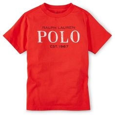 Ralph Lauren Little Boys' Graphic Cotton T-Shirt ❤ liked on Polyvore featuring son