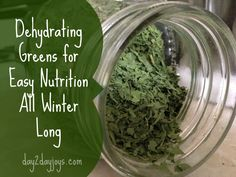 Dry chard, spinach, or other greens in a dehydrator for a quick boost of nutrition all winter