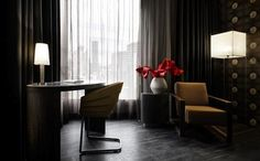 Mainport Hotel, Rotterdam, The Netherlands by MAS Architectuur + Feran Thomassen Moroso Furniture, Luxury Hotel Design, Luxury Hotels, Acoustic Wall, Italian Furniture, Ms Gs, Chair Design, Hotel Offers