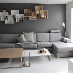 """9,193 Likes, 63 Comments - Hege Jeppedal (Sandnes 🇳🇴) (@medandreord) on Instagram: """"🔲 Livingroom 🔲 . Den store, grå ullputa er ny. Den fant jeg hos @boliacom i Bodø👌🏻 #ikkesponset 😜…"""""""