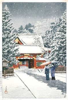 Hie Shrine in Snow Alternate Title: 社頭の雪(日枝神社) Kawase Hasui (Japan, 1883-1957) Japan, New Year 1931