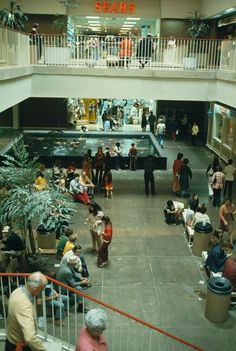 The Sears Court at Montgomery Mall (now Westfield Montgomery) in Bethesda, Maryland, May 1974. National Archives photo.