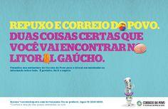 Campanha sobre a venda de exemplares do jornal Correio do Povo no litoral gaúcho.
