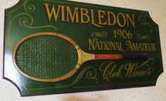 Large tennis sign Wimbledon Antique tennis art Tennis wall decor Tennis club Tennis racket Tennis racquet Tennis gift Tennis decor Wall art Tennis Clubs, Tennis Racket, Wimbledon Tennis Club, Tennis Gifts, Pub Bar, Art Carved, Rackets, Vintage Home Decor, Wall Art Decor