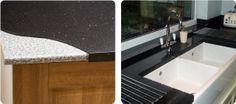 granite overlay in kitchen Granite Overlay, Countertop Overlay, Kitchen Worktops Uk, Granite Worktops, Hammock Chair, Hammock Stand, Small Apartments, Small Spaces, Kitchen Interior