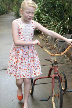 Orange Floral Skater Dress by HullabalooKids on Etsy, $35.00