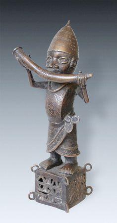 Bronze-Hornblower, Benin, Nigeria