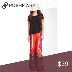 Flying tomato printed wide leg pant Used once during vacation Flying Tomato Pants Wide Leg