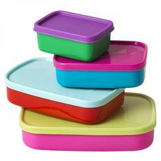Frischhalteboxen rechteckig 8er-Set - Rice Denmark #funny #colorful #storage #food