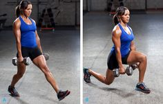 Lunges are great for targeting the glutes, hamstrings, and quadriceps. Lunges will help tighten up your legs and butt and give you the curve...