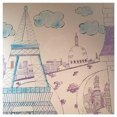Paris, Eiffel Tower, wall mural
