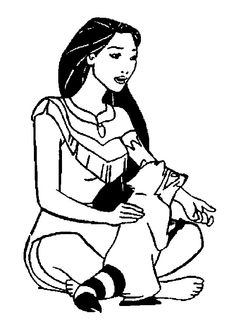 pocahontas and meeko pocahontas coloring pages pinterest adult coloring