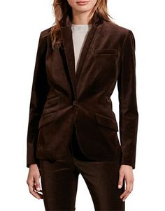Lauren Ralph Lauren Merino Wool Jacket Women's Brown 2