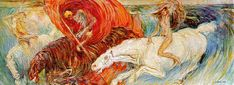 Carra, Carlo (1881-1966) - 1908 The Horsemen of the Apocalypse (Art Institute of Chicago, USA)   by RasMarley