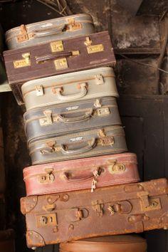 Old suitcases & valises found at Chor Bazaar Mumbai