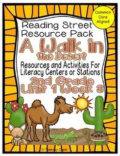 This is a resource pack designed for the Reading Street Reading Series - 2nd Grade Unit 1 Week 4.  It is a large file (over 120 pages) with posters, task cards, activities, and much more.