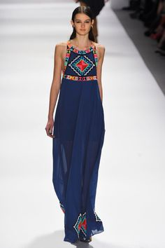 Love this colorful tribal print maxi.