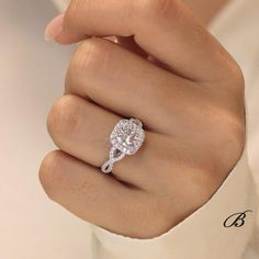 Dream Engagement Rings, Rose Gold Engagement Ring, Infinity Band Engagement Ring, Popular Engagement Rings, Traditional Engagement Rings, Cushion Cut Diamonds, Cushion Diamond Ring, Art Deco Ring, Diamond Simulant