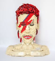 LEGO David Bowie's iconic Album Cover 'Aladdin Sane' Bust