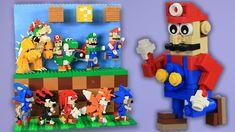 Every Lego Mario  Lego Sonic Custom Build Display | BRICK 101 Custom How To Build