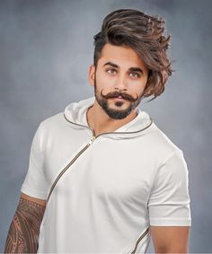 A beard now becomes the style statement for every man. Here are some of the trending beard styles for men that you will love experimenting. Mens Hairstyles With Beard, Boy Hairstyles, Haircuts For Men, Beard Styles For Men, Hair And Beard Styles, Short Hair Styles, Boys Beard Style, Mens Facial, Beard Haircut