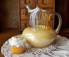 Vintage Glass Pitcher Iridescent Amber Classic Pitcher Grandmas Kitchen Shabby…