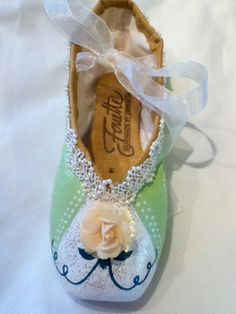 Tiana   Decorated Pointe Shoe by JazzedUpPointes on Etsy, $32.00