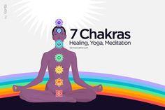 Meditation exercises to harmonize your 7 chakras, thanks to the yoga poses, mudras and mantras best adapted for each chakra. 7 Chakras Meditation, Meditation Mantra, Meditation Exercises, Chakra Sacral, Chakra Healing Stones, Healing Crystals, Chakra Du Plexus Solaire, Solar Plexus Chakra, 7 Chakras Meaning