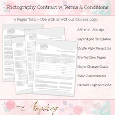 photography contract samples