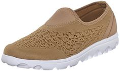 Propet Womens Travelactiv Slip On Fashion Sneaker Honey 8 W US >>> You can get additional details at the image link.