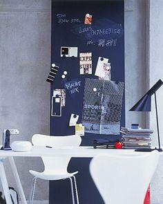 Pinnwand - Holzplatte mit Magnetfarbe bestreichen!