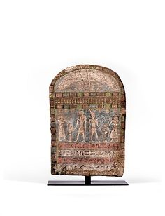 Stelae              Stelae painted with various deities.                                     Wood with polychrome pigments.   Egypt, Third Intermediary Period.