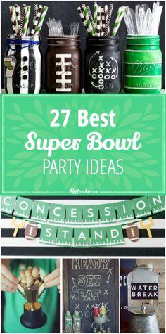27 Super Bowl party ideas for a kickin' party! via /tipjunkie/ 27 Super Bowl party ideas for a kickin' party! Football Party Foods, Football Tailgate, Football Birthday, Football Parties, Football Food, Football Season, Tailgating, Tailgate Parties, 8th Birthday