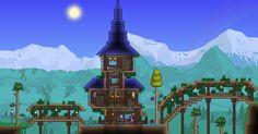 Terraria - Nice Wizard house!