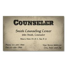1000 images about Mental Health Counselor Business Cards