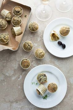 Healthy Olive Thyme Mini Muffins (Gluten Free, Grain Free, Nut Free, Paleo)  Makes a great snack or on-the-go breakfast!