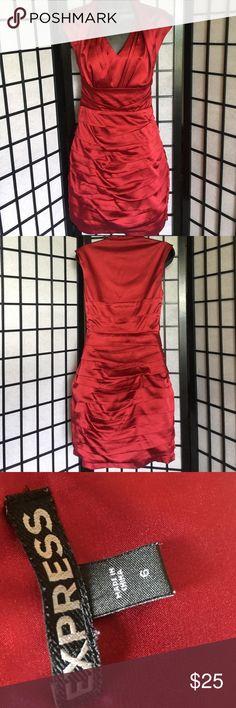 Gorgeous Mini Dress Gorgeous candy apple red!! Express Dresses Mini