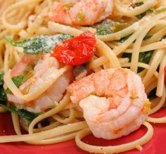 Lemon Garlic Shrimp Scampi with Baby Spinach