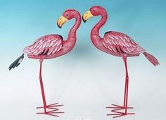 MayRich Set of 2 Assorted 225 Red Metal Flamingo Lawn Ornaments with Stakes *** Find out more at the image link.