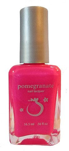 Pomegranate Nail Lacquer — Sizzling Sweet - hot pink nail polish with shimmer