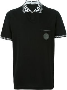 VERSACE 'Greca' Collar Polo Shirt. #versace #cloth #shirt